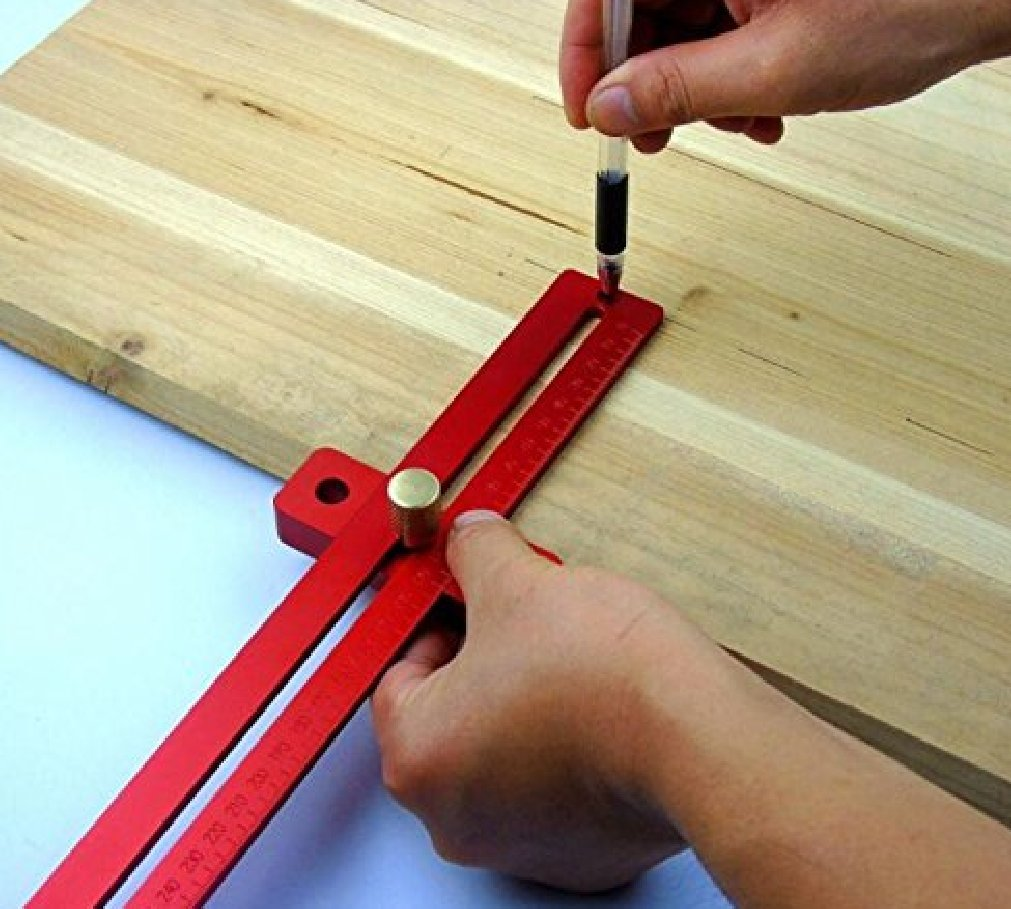 Aluminum Alloy Crossed Ruler Woodworking T Type Scriber Measuring Tools by YUCHENGTECH (Image #5)