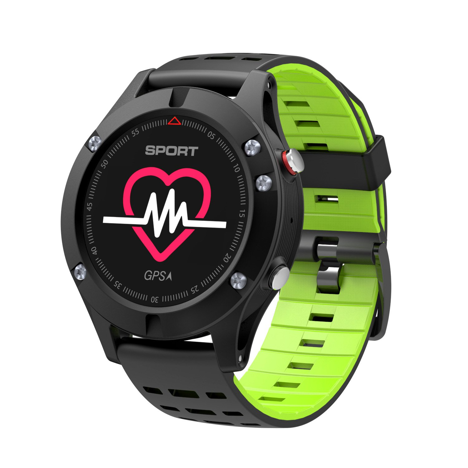 DSMART SP Serials GPS Sports Smart Watch Fitness Activity Traker with Heart Rate Monitor/Barometer/Altimeter/(Green)