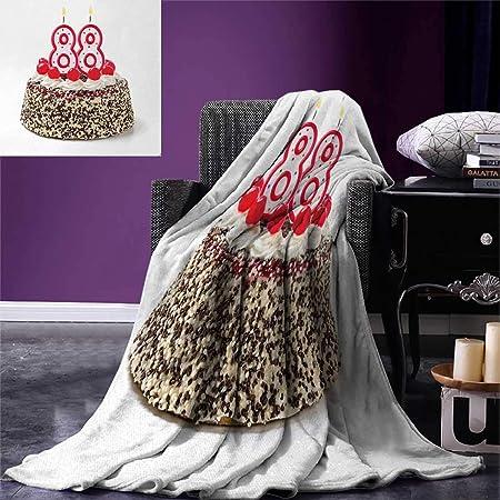 Manta de cumpleaños para 80 cumpleaños de la marca Smbeefly ...
