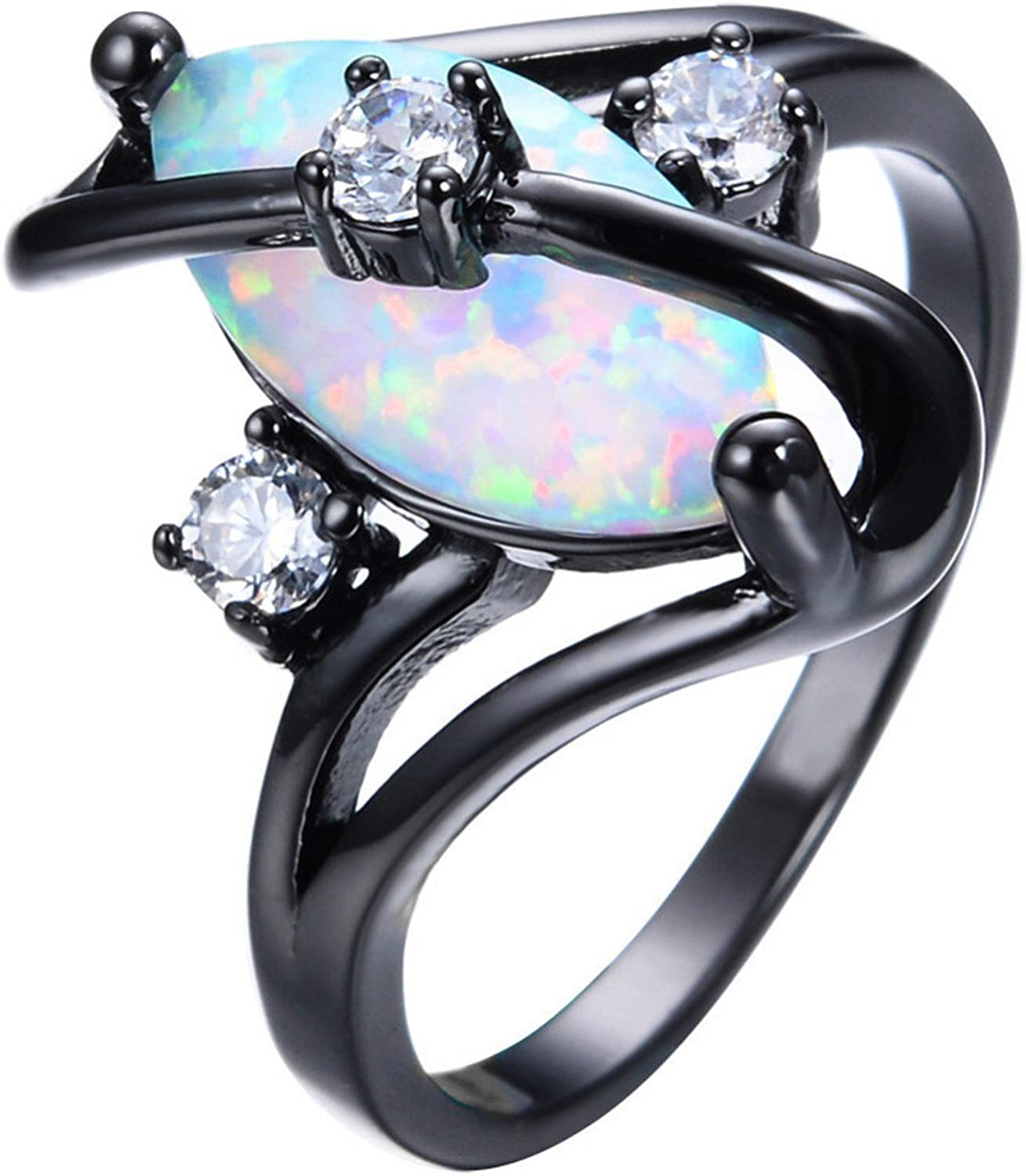 Slyq Jewelry Gorgeous Oval Cut Gold Silver Ring Size 6 7 8 9 engagement rings fashion ring sets