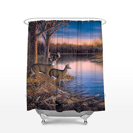 . Camo Deer Picture Custom Shower Curtain Bathroom Decor Shower Curtain