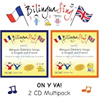 French Songs for Kids | 2 CD Multipack AWARD WINNING Children's French Songs | Award Winning BilinguaSing On Y Va Vol.1 & 2 | Learn French 4-11 Years Old