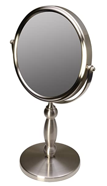 vanity mirror. Floxite Fl 15v 15 Extra Strong 15x 1x Supervision Vanity Mirror  Brushed Nickel Amazon com