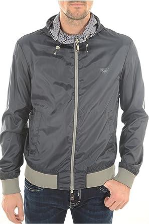 5c5d49ef2fb Armani Jeans Veste réversible Logo Hooded Gris  Amazon.fr  Vêtements ...