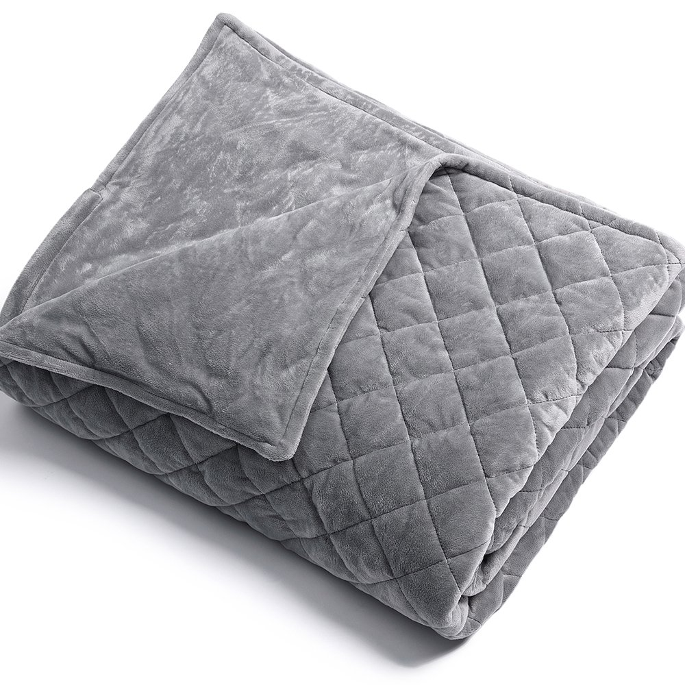 BUZIO Weighted Blanket (5 lbs for Kids, 36''x48''), Great Sleep Therapy for People with Anxiety, Autism, ADHD, Insomnia or Stress, Organic Cotton & Glass Beads Heavy Blanket 36''x48'')