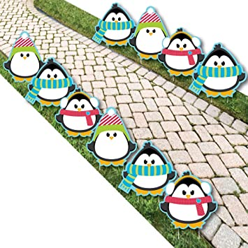 Holly Jolly Penguin Penguin Lawn Decorations Outdoor Holiday Christmas Yard Decorations
