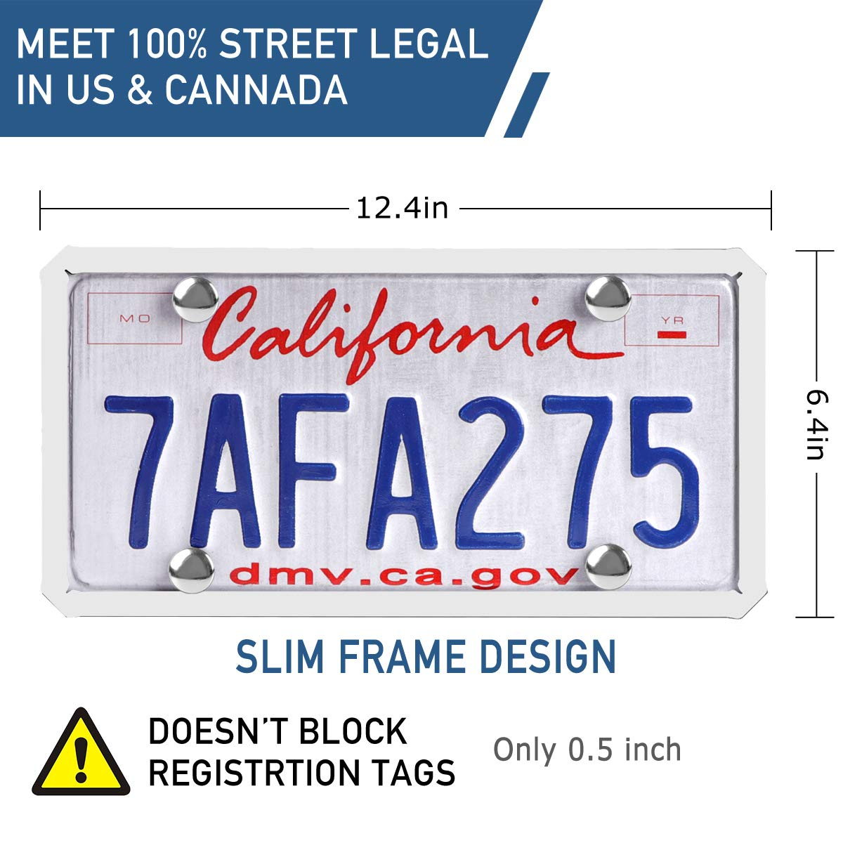 Black License Plate Frame ONE PIX Silicone License Plate Covers Holders Rust-Proof//Rattle-Proof//Weather-Proof for Car License Plate