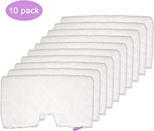 Extolife 10 Pack Washable Steam Mop Pads Replacement for Shark Steam Pocket Mops S3501 S3601 S3550 S3801 S3901 S3601D S3801CO S3901D S3455K S2902 SE450