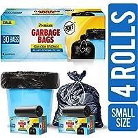 JOFF Premium Garbage Bags - Small (43cmx51cm, 4 Rolls, 120 Bags, Black)
