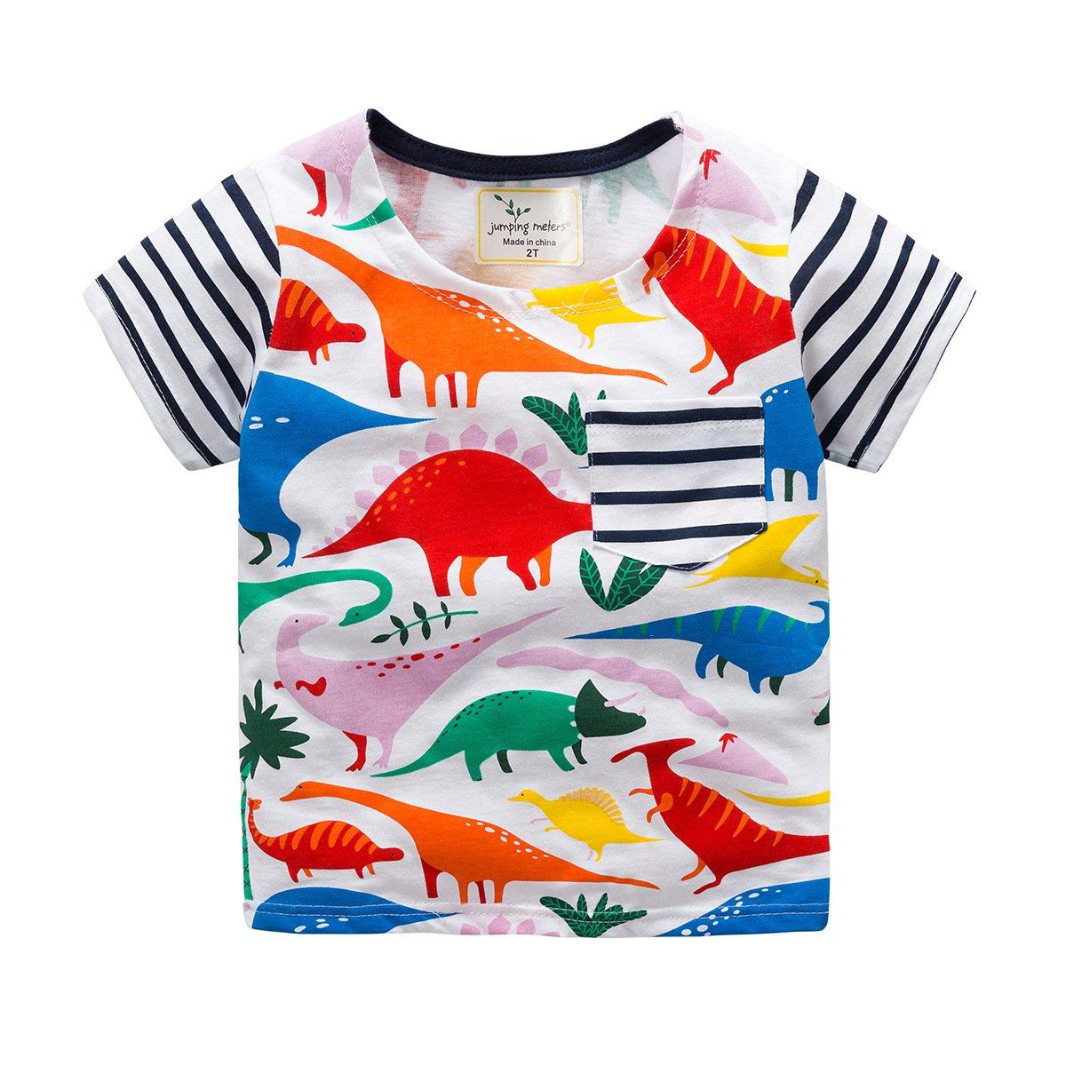 KIDSALON Little Girls Cotton Crewneck Solid Short Sleeve T-Shirt by
