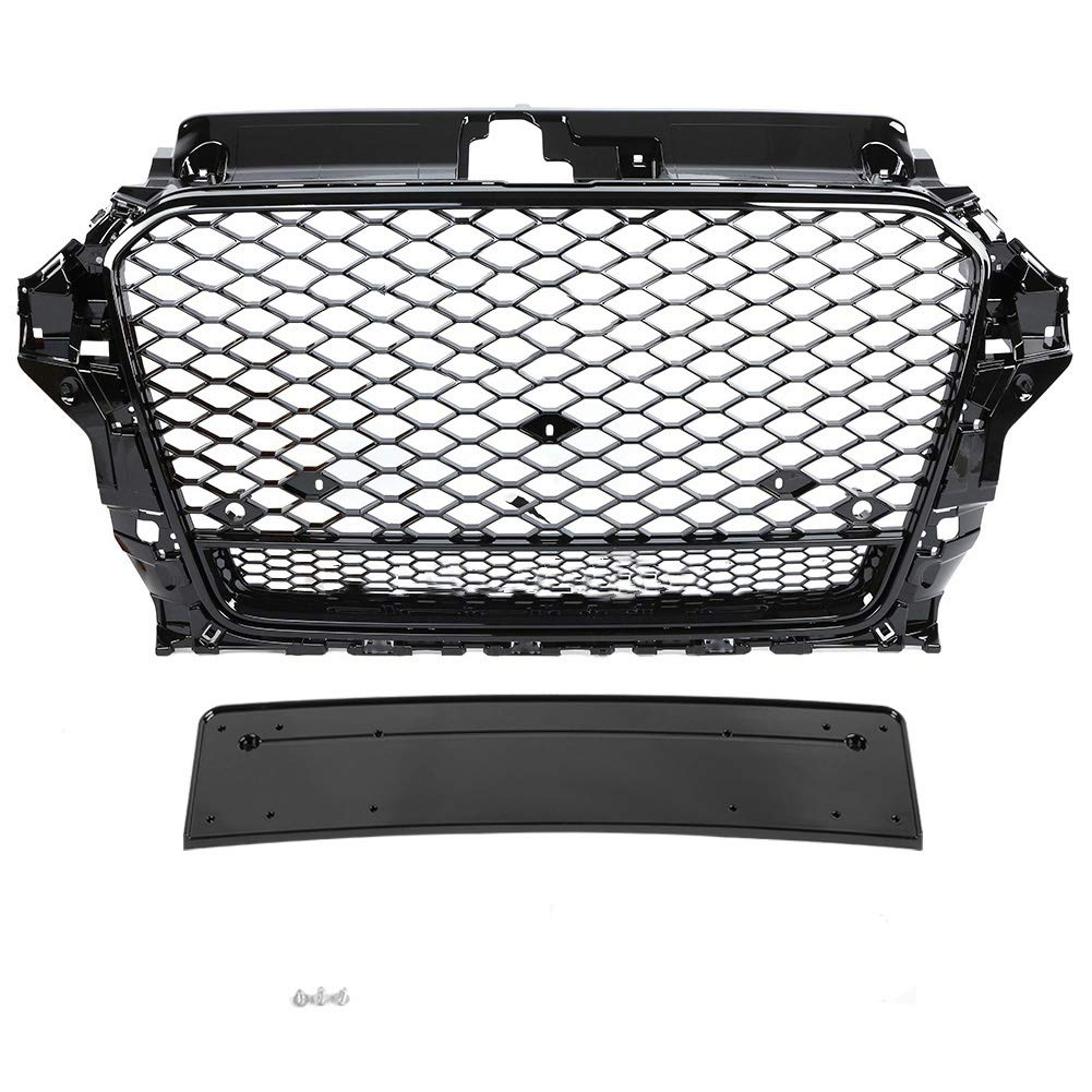 KIMISS Front Sport Hex Mesh Honeycomb Hood Grill Schwarz TTRS Style f/ür TT//TTS 8S 15-18 /…