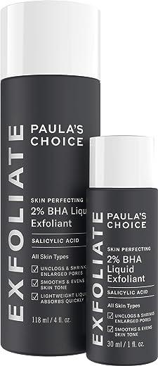 Paula's Choice Skin Perfecting 2% BHA Liquid Salicylic Acid Exfoliant Duo, Gentle Exfoliator for Blackheads, Large Pores, Wrinkles & Fine Lines,…