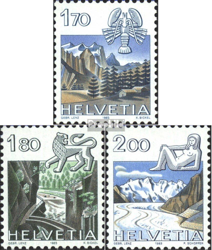 Francobolli per i Collezionisti 1983 Zodiac Astrologia // Segno Zodiacale Prophila Collection Svizzera 1242-1244 Completa Edizione