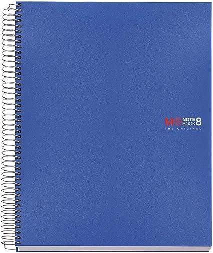 Basicos Mr 42004, Cuaderno A4 con Tapa de Polipropileno, 200 hojas, 5 mm, Azul: Amazon.es: Oficina y papelería