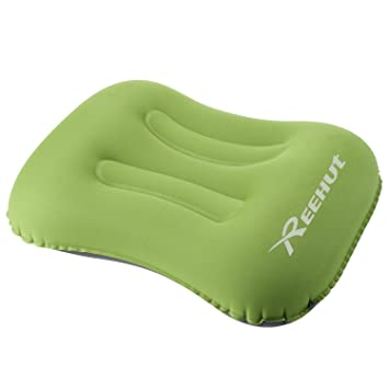 REEHUT Almohada de Acampada Inflable Almohada Camping - Almohada Hinchable, Compresible, Portátil, Cómoda y Ergonómica para el Cuello y el Apoyo ...