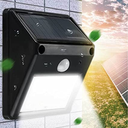 Lámpara Foco Luz solar jardín 12 LED terraza exterior Sensor Movimiento