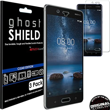 brand new f56bf 30130 TECHGEAR - Pack of 3 Screen Protectors to Fit Nokia 8 - Ghostshield ...