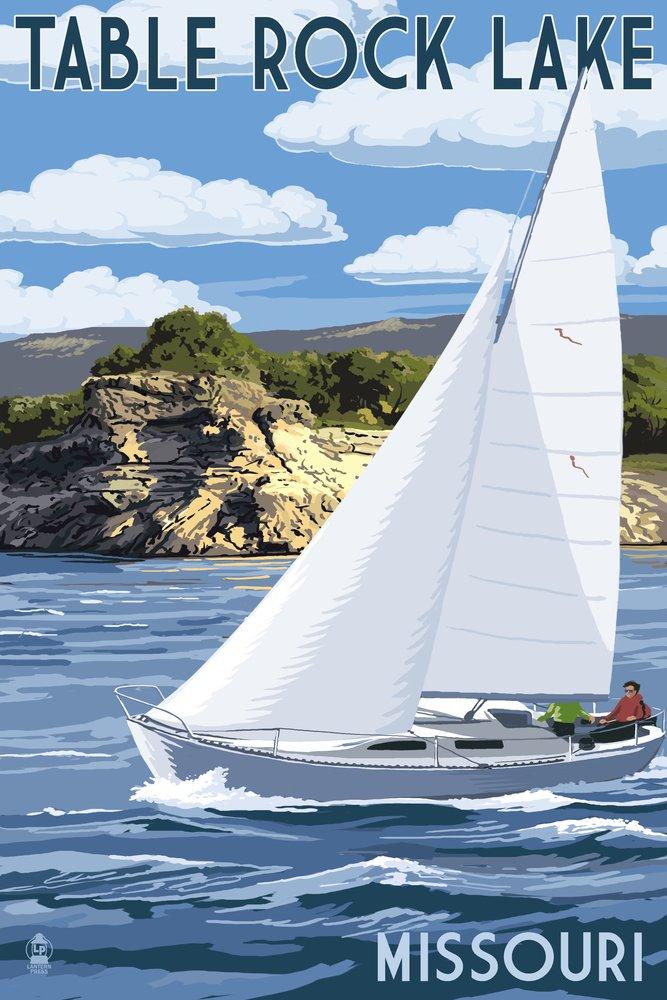 テーブルRock湖、ミズーリ州 – ヨットと湖 36 x 54 Giclee Print LANT-51850-36x54 B017E9YFBE  36 x 54 Giclee Print