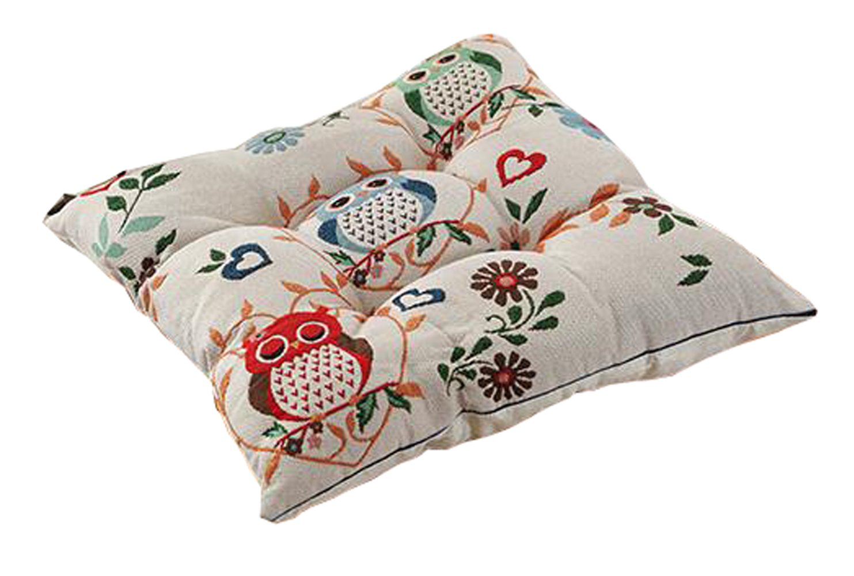 Peacewish Thicker PP Cotton Non-slip Seat Cushion Cute Animal Chair Pad Home Office Car Cushion Containing Straps (Happy)