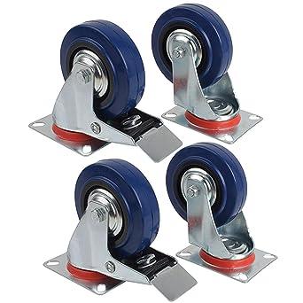 miafamily ruedas de transporte la Industria cargas pesadas ruedas ruedas y ruedas con freno Azul Elastic