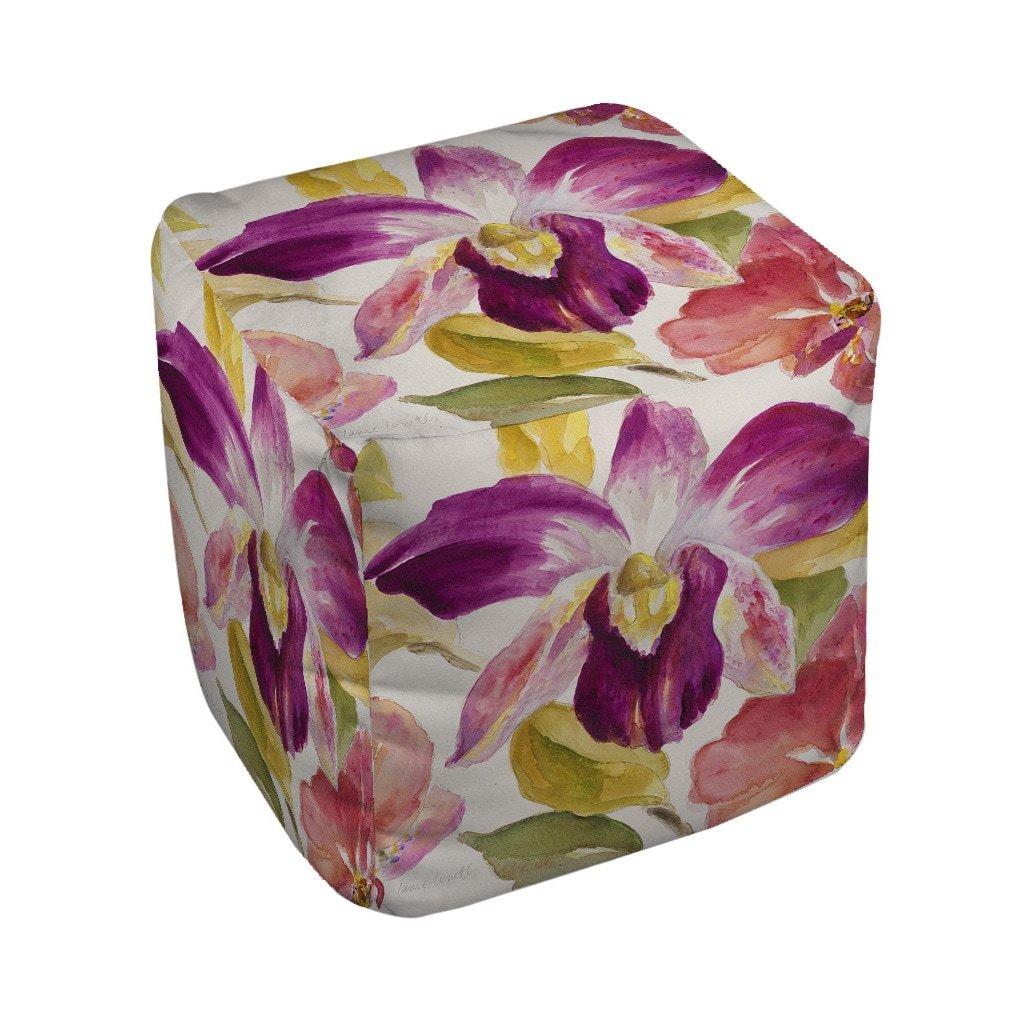Thumbprintz Radiant Orchid Pouf Medium 18 x 18