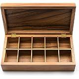 Ironwood Gourmet Rectangular Vauxhall Double Tea Box, Acacia Wood