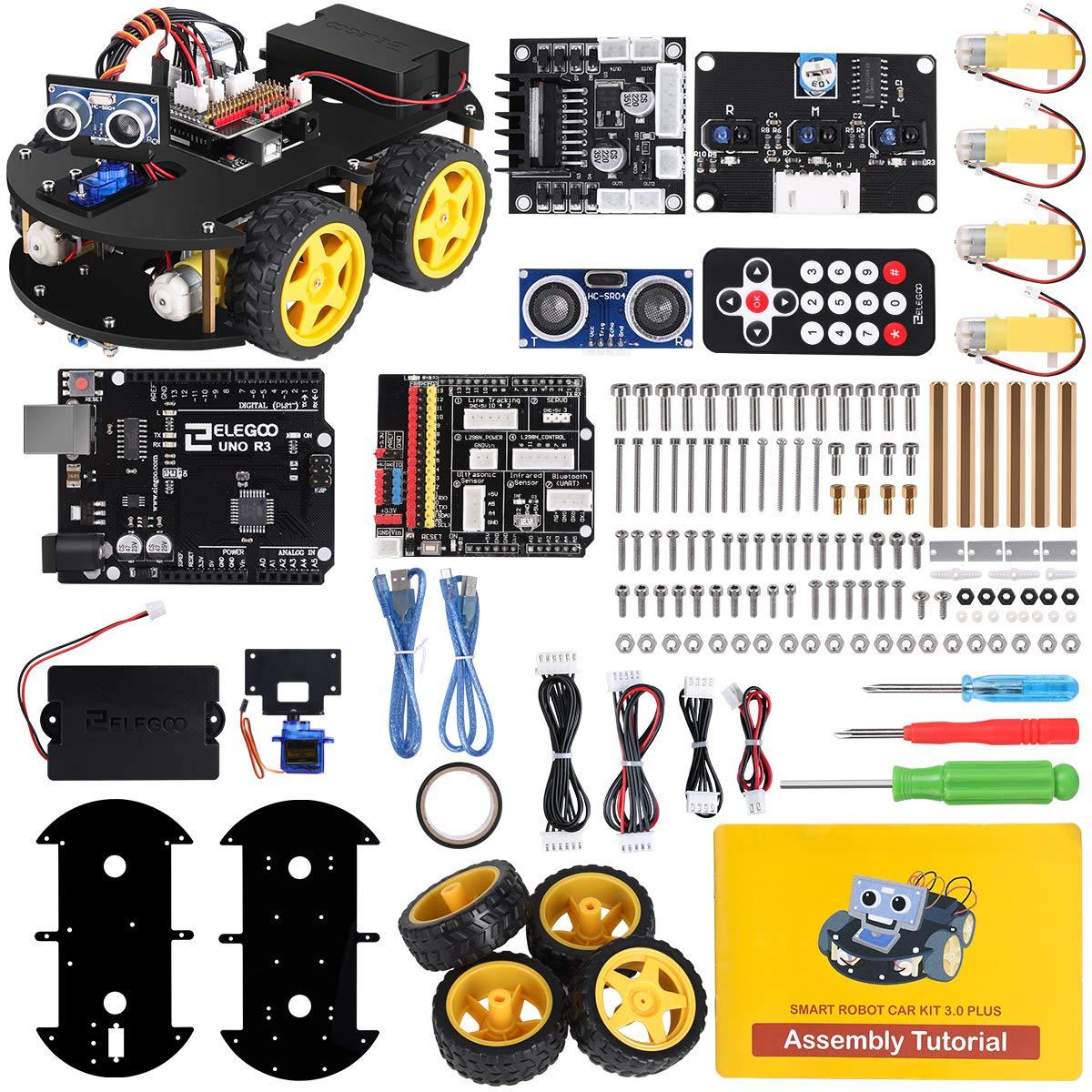 ELEGOO UNO R3 Kit de Coche Robot Inteligente V3.0 Plus Compatible con Arduino IDE