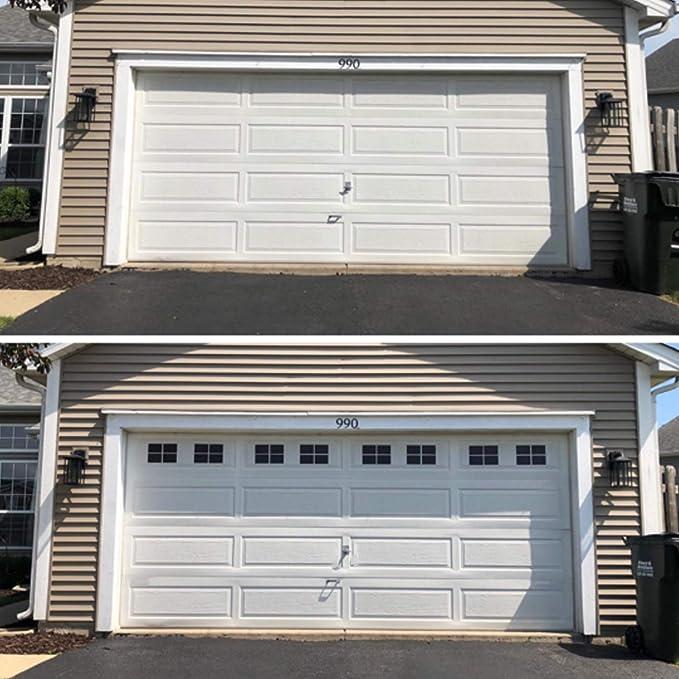 Paneles magnéticos para puerta de garaje para decoración de cochera de metal: Amazon.es: Bricolaje y herramientas