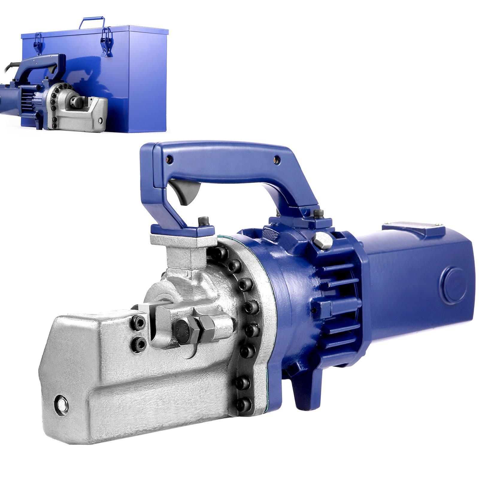 Happybuy 1700W Electric Rebar Cutter 1'' #8 Hydraulic Rebar Cutter 110V Rebar Cutter 4.5-5.5 Second Cutting (1'' 25mm)