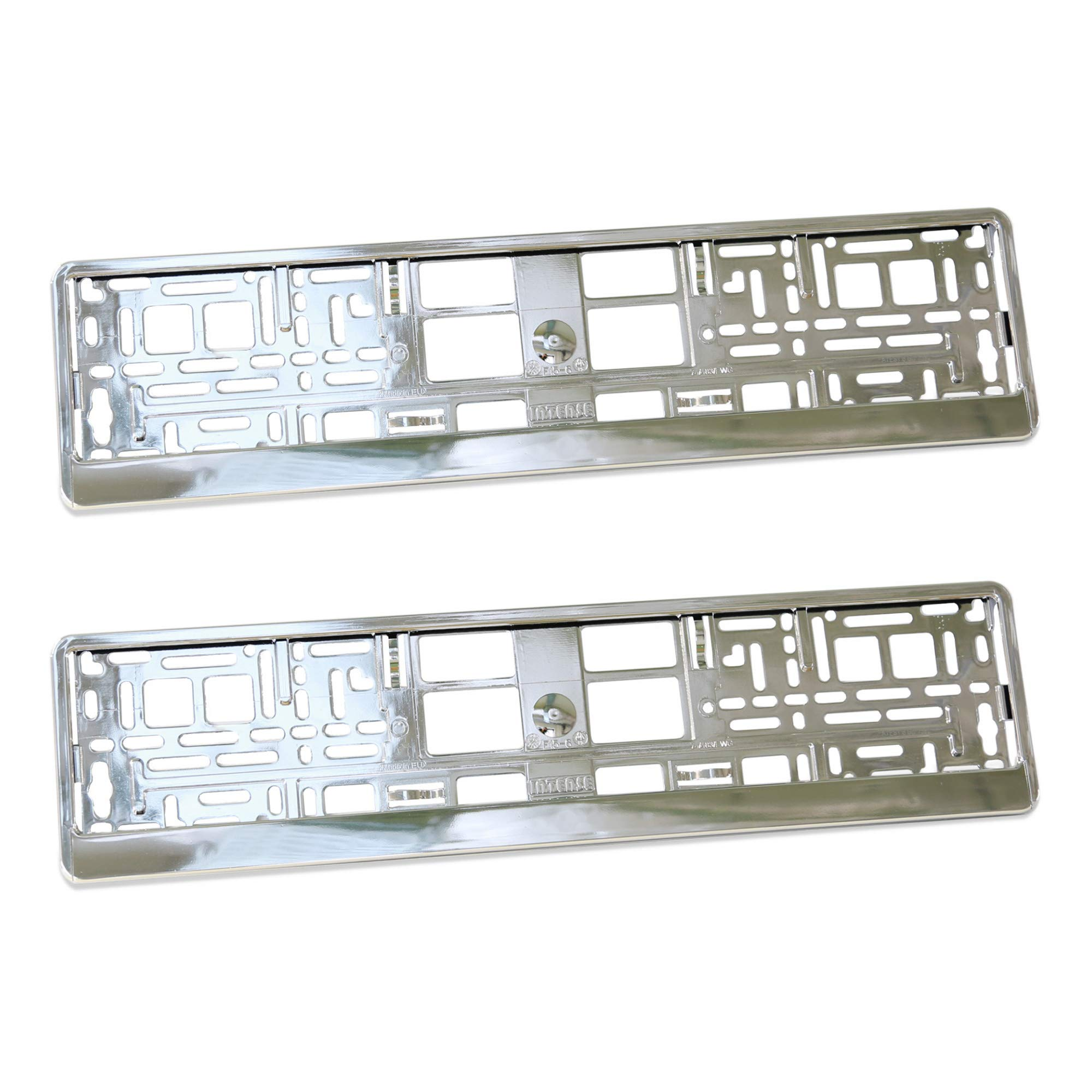 GROCAR Number Plate Surrounds Holder Frame 2 Pieces