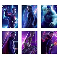 ZEMFO Marvel Set of 6 Posters | Avengers Infinity War Collection | Perfect Gift for Superhero Fans | High Quality 300GSM Paper Unframed