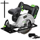 """GALAX PRO DC-20V 5-1/2"""" Cordless Circular Saw with 2Pcs Blades (18T+48T), 3800RPM Variable Speed, Includes 2.0Ah Lithium…"""