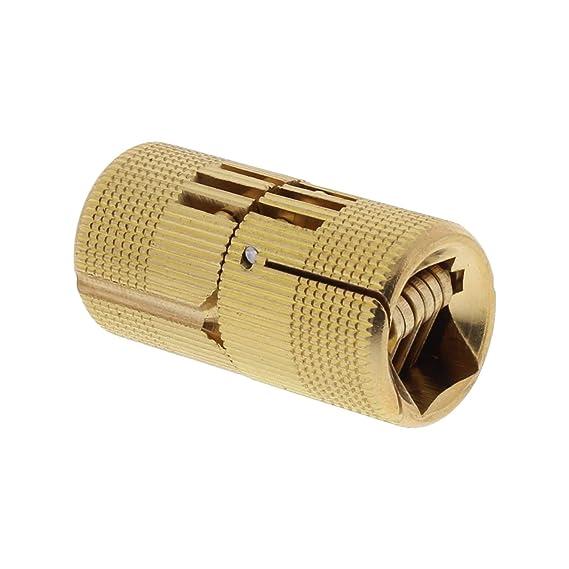ToniTec Einbohrscharnier unsichtbar Exakt Zylinder Scharnier M/öbelband messing