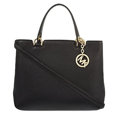 655be3e5e4 MICHAEL by Michael Kors Anabelle Black Medium Leather Tote one size Black
