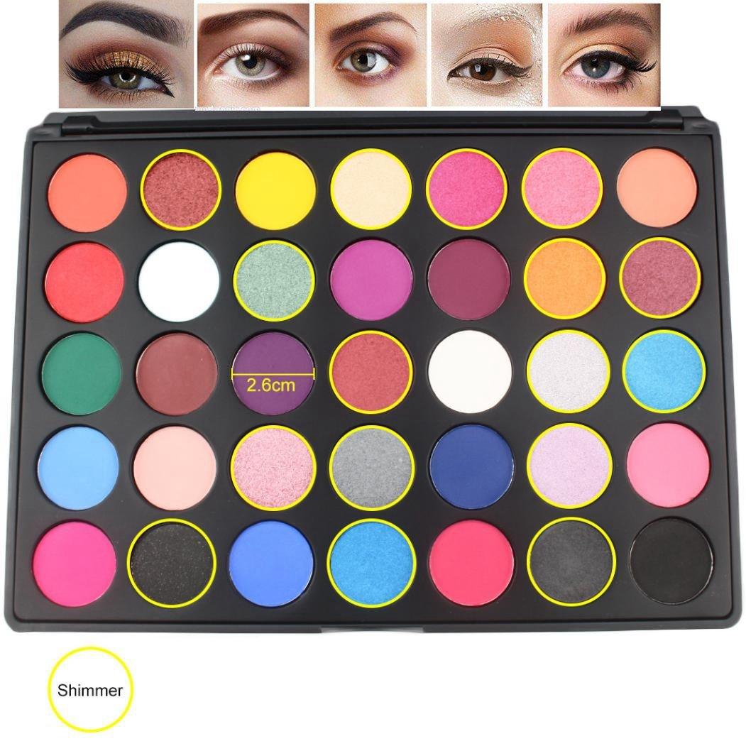 Best Pro Eyeshadow Palette Makeup Matte Shimmer 35 Lt Naturally Glam Eye Shadow Colors High Pigmented Glitter Powder Matt Cosmetic