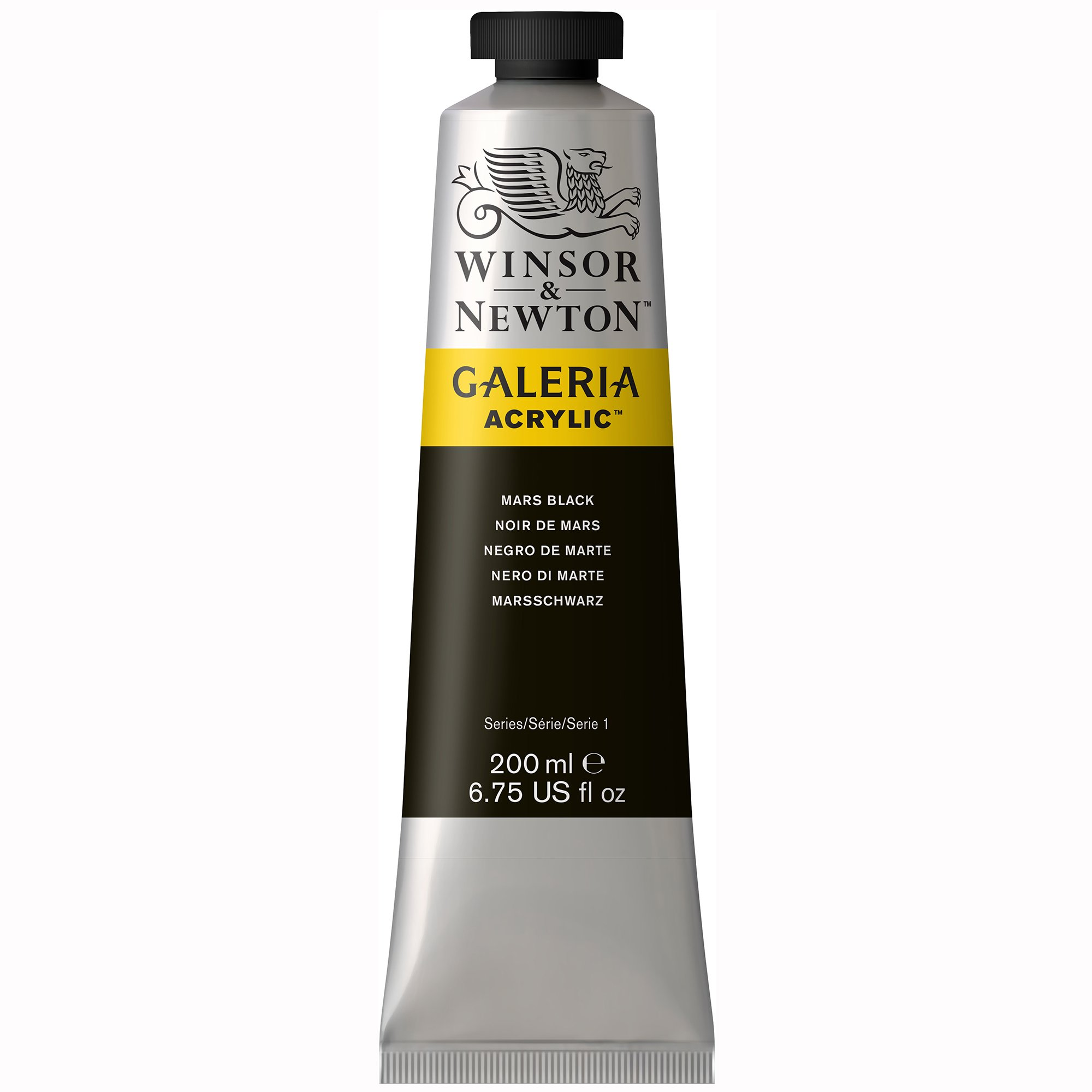 Winsor & Newton Galeria Acrylic Paint, 200ml tube, Mars Black
