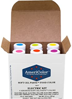 Amazon.com: Americolor 4-Color Soft Gel Paste Food Color Kit ...