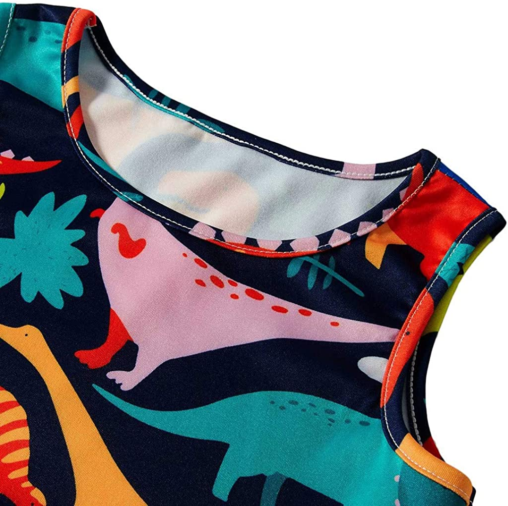 K-Youth® Moda Vestido Sin Mangas con Estampado de niñas Vestido de ...