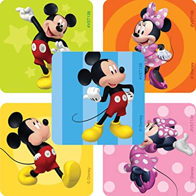 Mickey & Minnie Mouse Valuestickers - Prizes 250 Per Pack: Toys & Games