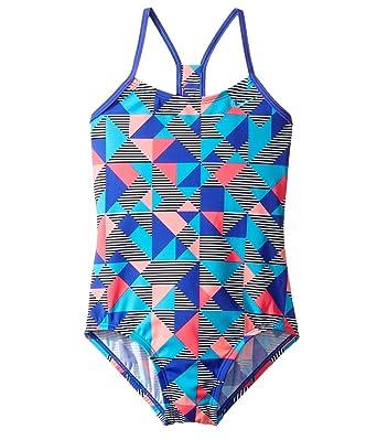 Nike Girl's Optic Pop Racerback Tank Swimsuit 8 ParamountBlue