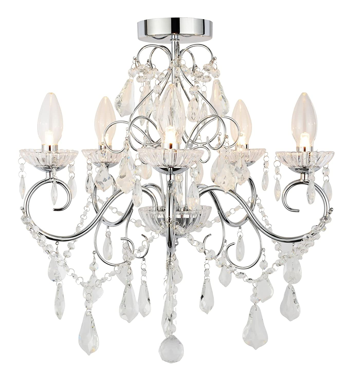 5 light ip44 rated chandelier amazon lighting arubaitofo Image collections