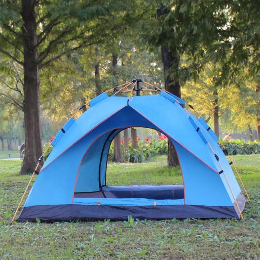 LSWGG Faltendes automatisches Campingzelt im Freien 3-4 Leute-Strand-Frühlings-Geschwindigkeits-geöffnetes Doppelzelt