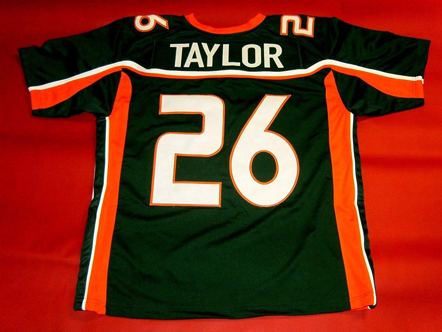 SEAN TAYLOR MIAMI GREEN CUSTOM STITCHED
