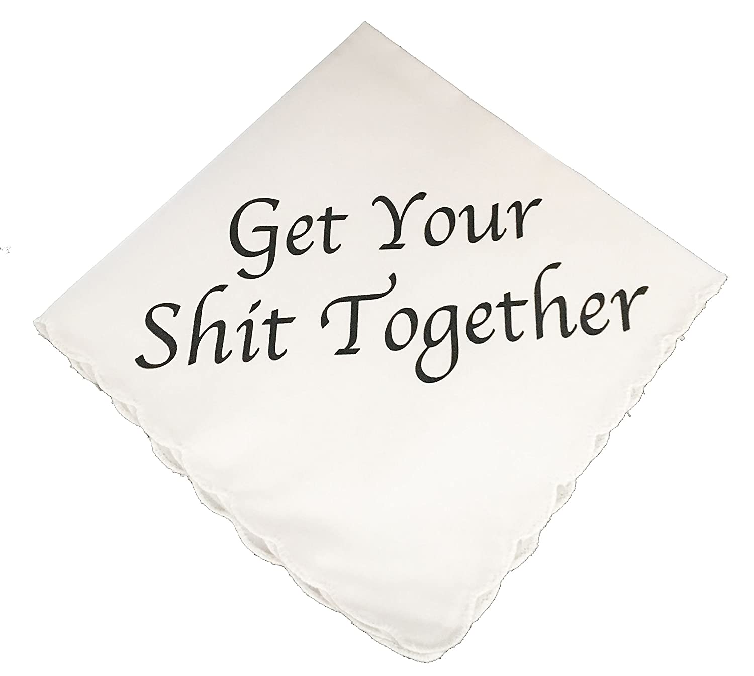 Get Your Shit Together Wedding Handkerchief by Wedding Tokens- Perfect Bridesmaid Gift