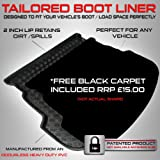 Audi A6 Avant / ESTATE (2011 onwards) - - Boot Liner Mat Tray with  Velour Insert