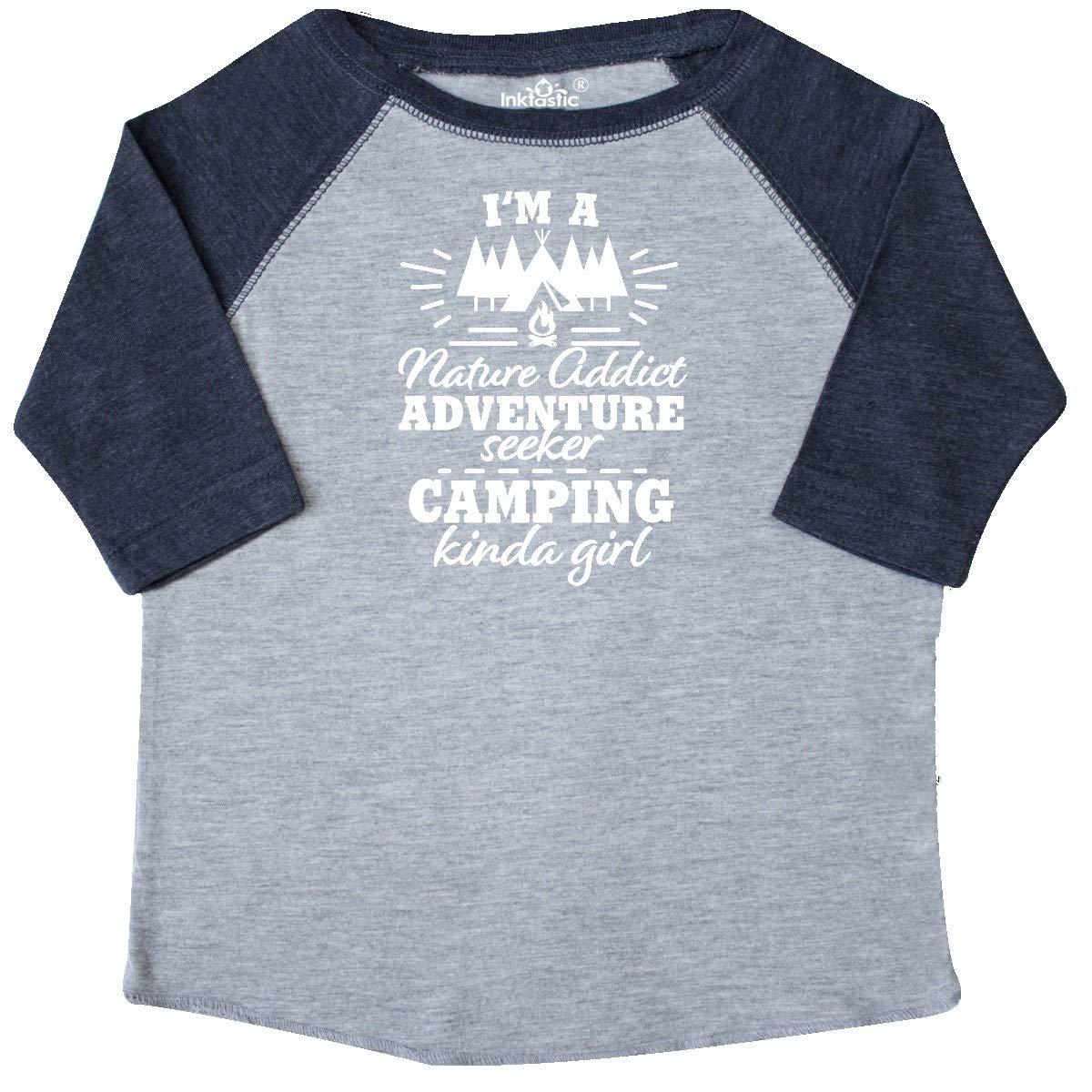 inktastic Im a Nature Addict Adventure Seeker Camping Kinda Toddler T-Shirt
