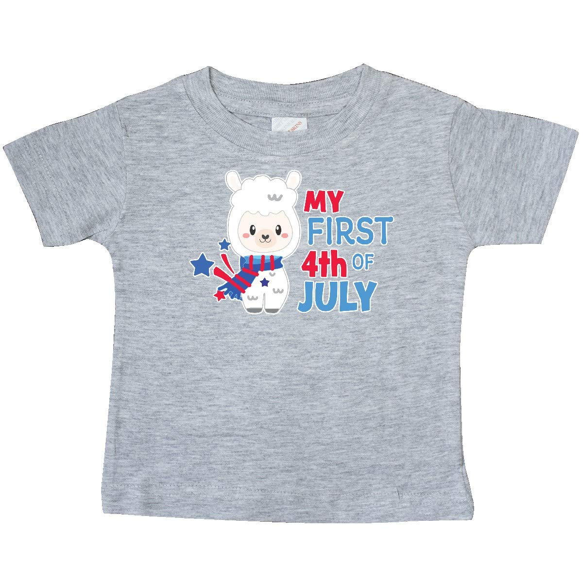 inktastic My First 4th of July with Llama Baby T-Shirt