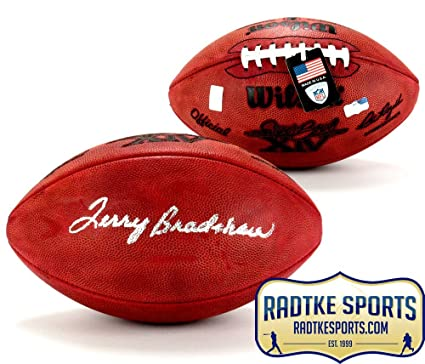 35702f4ab3c Terry Bradshaw Autographed Signed Wilson Authentic Super Bowl 14 NFL  Football