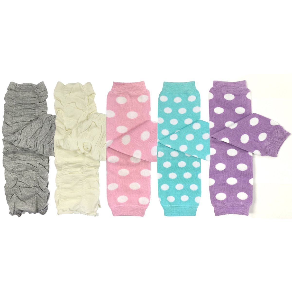 Bowbear Set of 5 Baby /& Toddler Leg Warmer Collection Premium Value Pack