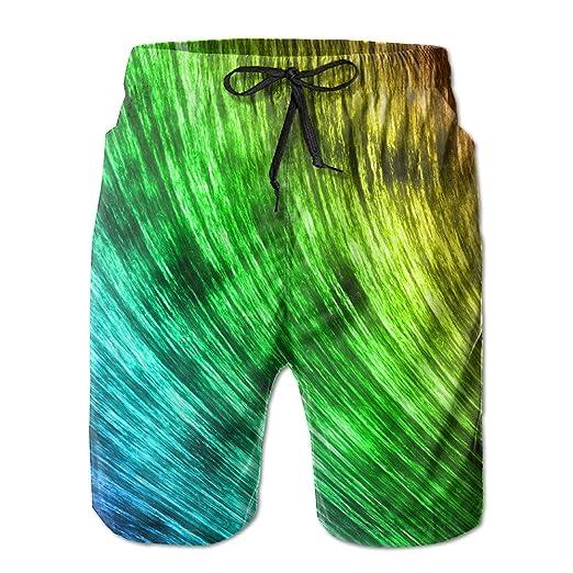 fb6ad9bd9329 Amazon.com  Men s Rainbow Neon Light Colorful Graphic Casual Quick ...
